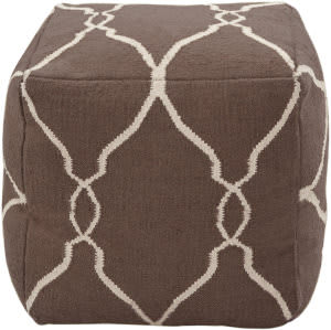 Surya Poufs Pouf-21 Dark Chocolate