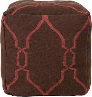 Surya Poufs Pouf-47 Dark Chocolate