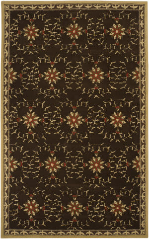 Surya Rain RAI-1058 Dark Chocolate Area Rug