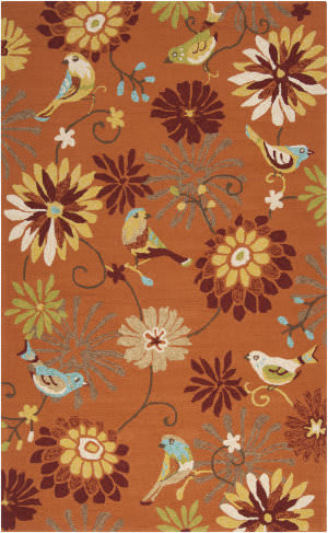 Surya Rain RAI-1104 Burnt Orange Area Rug