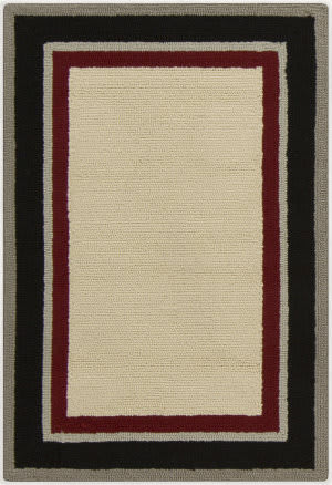 Surya Rain RAI-1164 Red / Black Area Rug