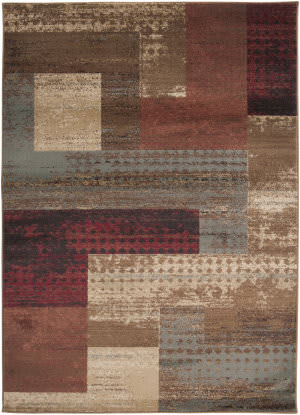 Burgundy And Brown Rug At Rug Studio