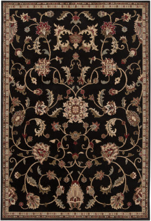 Surya Riley RLY-5025 Jet Black Area Rug