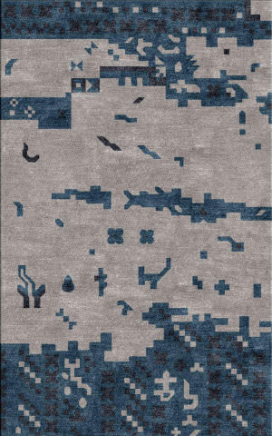 Surya Rustic RUT-702 Light Gray Area Rug
