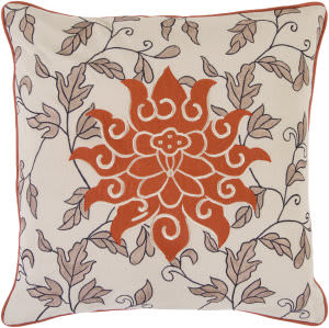 Surya Pillows SI-2000 Taupe/Rust