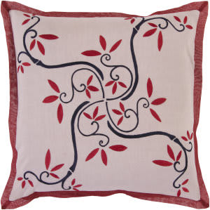 Surya Pillows SI-2008 Mauve/Burgundy