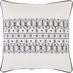 Surya Pillows SI-2019 Ivory/Navy