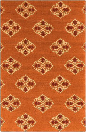 Surya Storm SOM-7734 Rust Red Area Rug