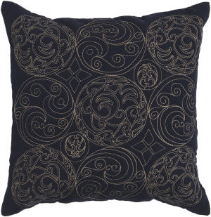 Surya Pillows ST-107 Navy/Beige