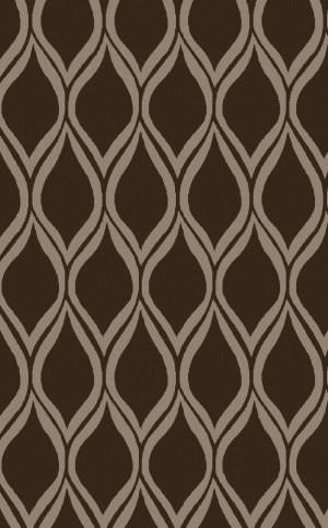 Surya Stamped STM-823 Chocolate Area Rug