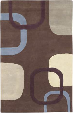 Surya Stella Smith STS-9008 Chocolate Plum Area Rug