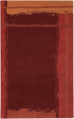 Surya Stella Smith STS-9010 Burgundy Red Orange Area Rug