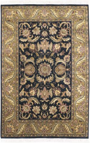 Surya Taj Mahal Tj-309 Black / Gold Area Rug
