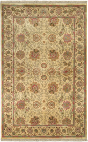 Surya Taj Mahal Tj-826 Light Gold / Dark Gold Area Rug