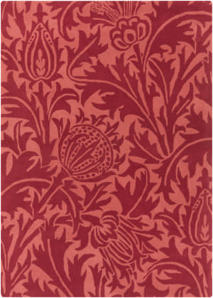 Surya William Morris Wlm-3007 Cherry/ Hot Pink Area Rug