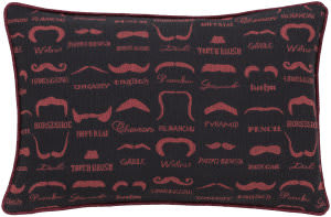 Surya Wax That Stache Pillow Wts-002