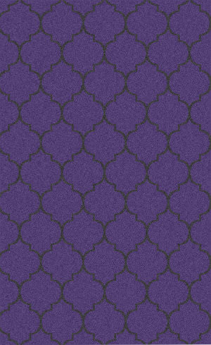 Surya Zahra ZHA-4013 Black / Violet (purple) Area Rug