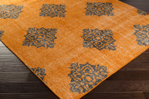 Surya Zahra ZHA-4025 Black / Burnt Orange Area Rug