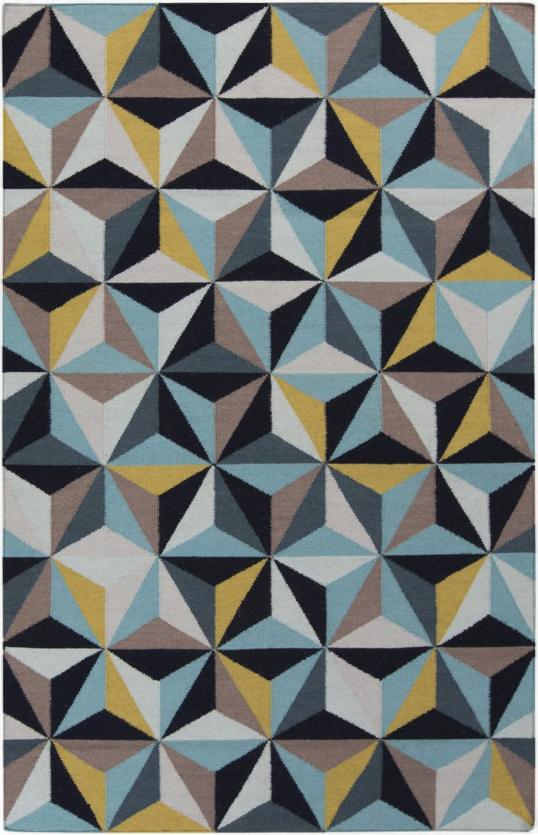 Surya Frontier Ft 549 Slate Gold Teal Clearance Rug