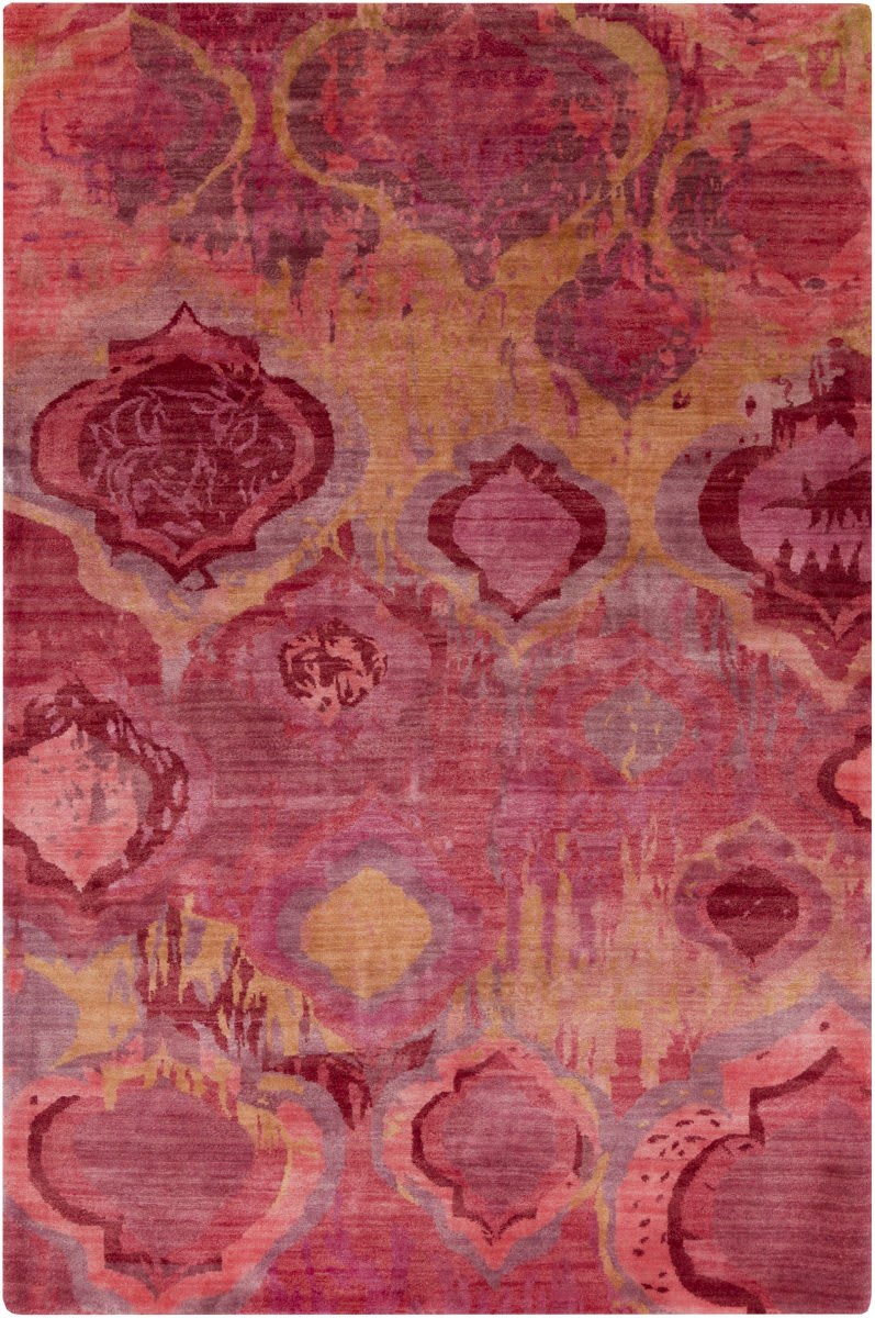 watercolor area rug. Surya Watercolor WAT-5006 Orange - Red Pink Violet Area Rug Clearance #107182