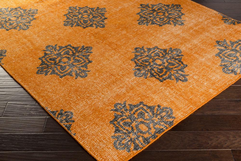 Custom Surya Zahra Zha 4025 Black Burnt Orange Area Rug 107231c