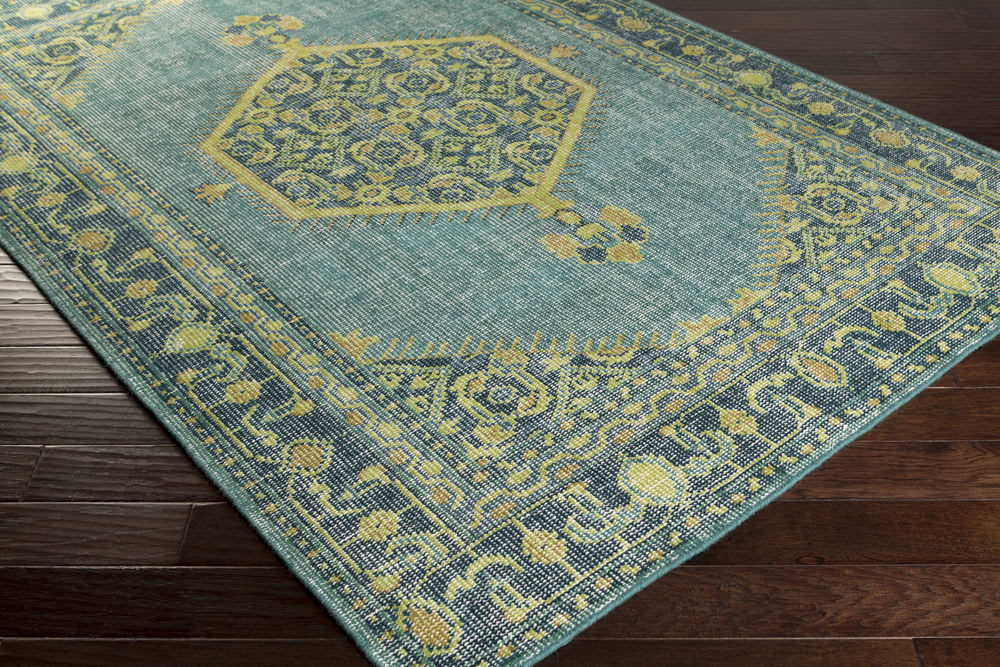 Surya Zahra Zha 4027 Blue Green Area Rug 107233