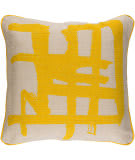 Surya Bristle Pillow Bt-006 Yellow