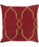 Surya Pillows FA-019 Burgundy/Tan