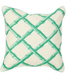 Surya Bamboo Lattice Pillow Fbb-001 Green