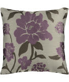 Surya Blossom Pillow Hh-048 Purple/Taupe