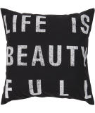 Surya Typography Pillow St-082