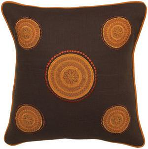 Surya Pillows KH-4003 Chocolate/Orange