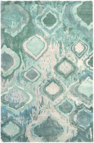 Surya Watercolor Wat-5012 Emerald/Kelly Green Area Rug