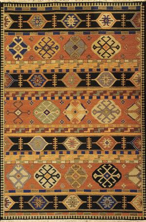Tibet Rug Company Soumak Kazak Design 3 Area Rug