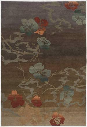 Tibet Rug Company 100 Knot Premium Tibetan Kimono Taupe Area Rug
