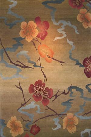 Tibet Rug Company 100 Knot Premium Tibetan Kimono Gold Area Rug