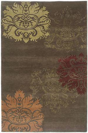 Tibet Rug Company 80 Knot Premium Tibetan Lotus with Silk accents Area Rug