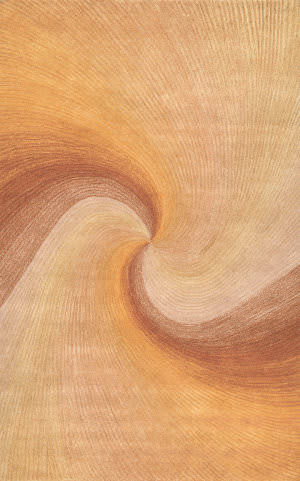 Trans-Ocean Dunes Waves Rust 9102/27 Area Rug