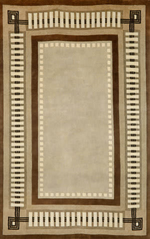 Trans-Ocean Palermo Modern Border Brown 7632/19 Area Rug