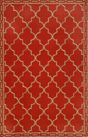 Trans-Ocean Ravella Floor Tile Red 1976/24 Area Rug