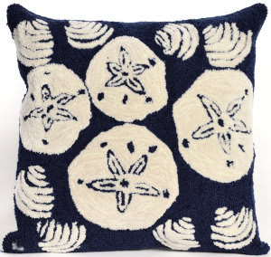 Trans-Ocean Frontporch Pillow Shell Toss 1408/33 Navy Area Rug