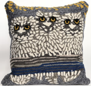 Trans-Ocean Frontporch Pillow Owls 1443/47 Night Area Rug