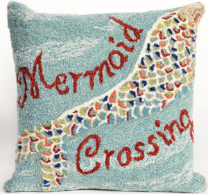 Trans-Ocean Frontporch Pillow Mermaid Crossing 1448/03 Water