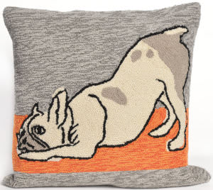 Trans-Ocean Frontporch Pillow Yoga Dogs 1488/47 Heather Area Rug