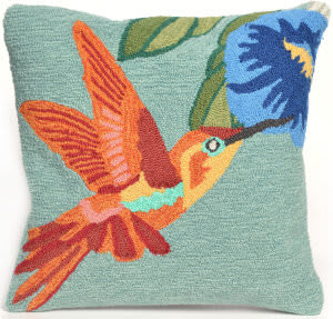 Trans-Ocean Frontporch Pillow Hummingbird 1527/03 Sky Area Rug
