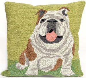 Trans-Ocean Frontporch Pillow Wet Kiss 1567/06 Green Area Rug