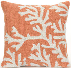 Trans-Ocean Frontporch Pillow Coral 1620/17 Coral