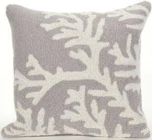Trans-Ocean Frontporch Pillow Coral 1620/47 Silver