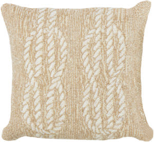 Trans-Ocean Frontporch Pillow Ropes 1636/12 Neutral