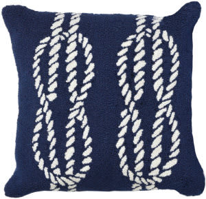 Trans-Ocean Frontporch Pillow Ropes 1636/33 Navy